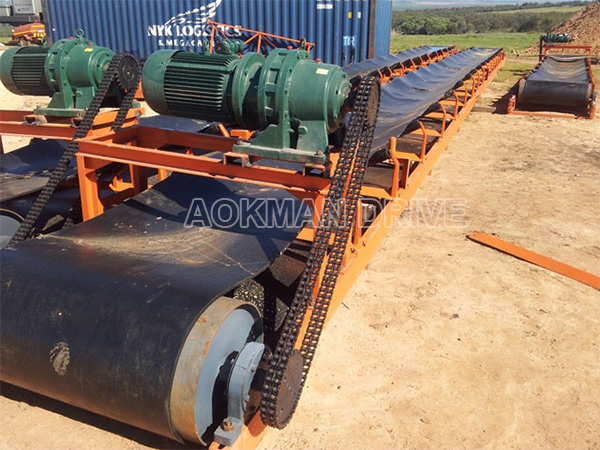 Cycloidal gearboxes applied in belt conveyor