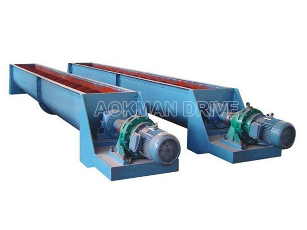 Cycloidal gearboxes applied in screw conveyor