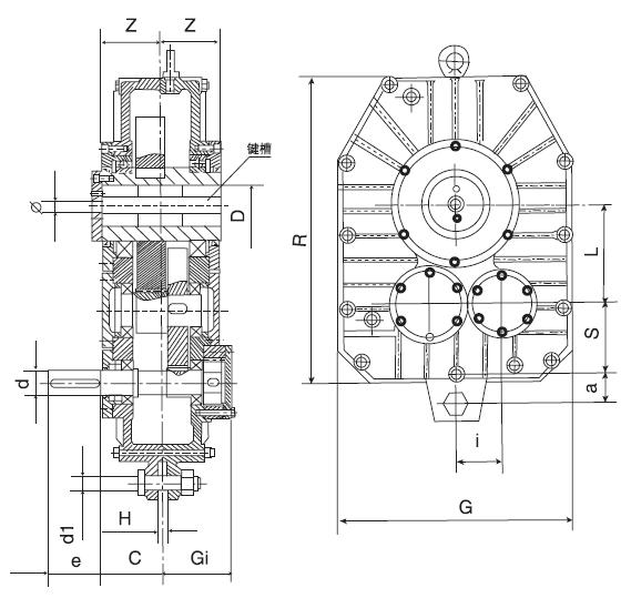 Contour of ZJY Series Shaft Mounted Gearbox
