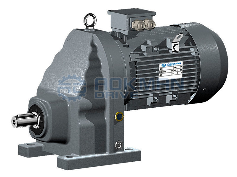 Foot-mounted Single Stage RX Series Helical Gear Motors